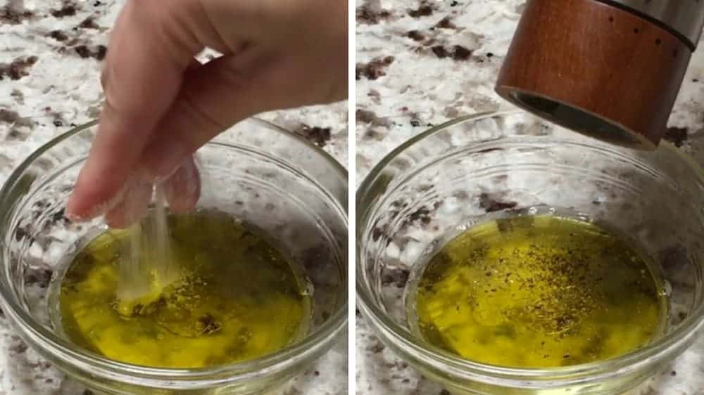 Adding Salt and Pepper to Dressing