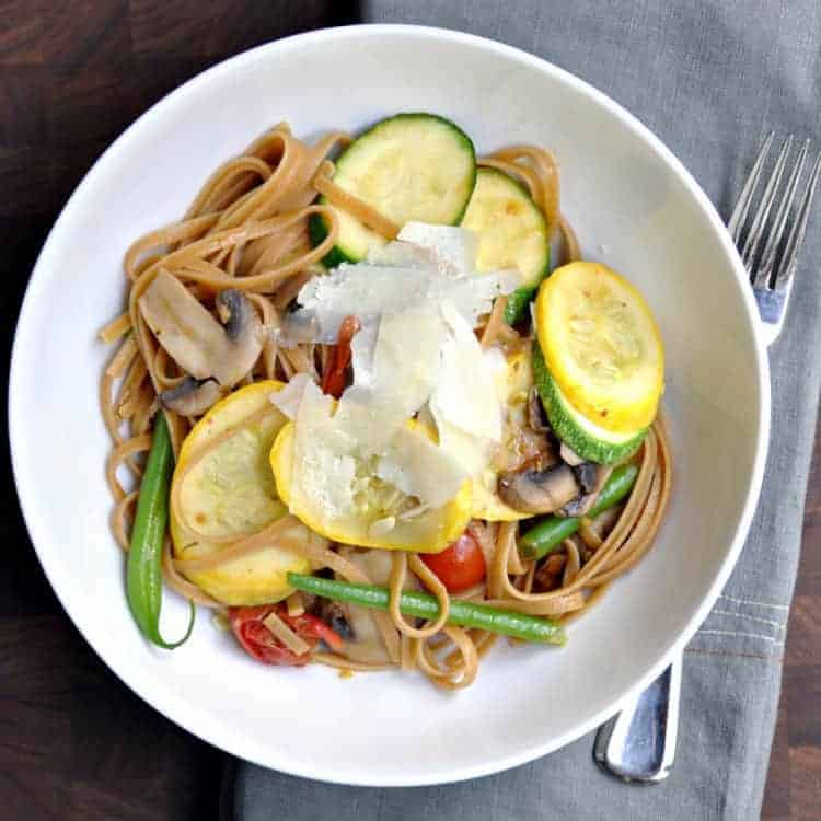 Summer Vegetable Linguine