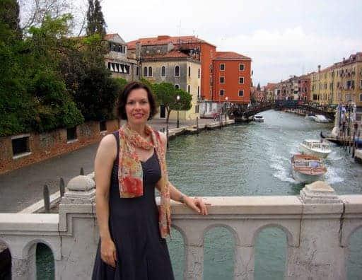 Marissa on Venice Bridge