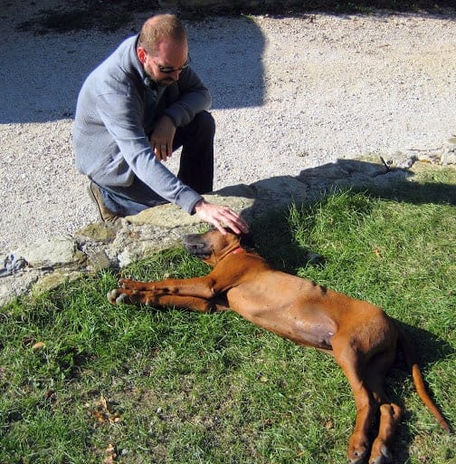 keith-with-ridgeback