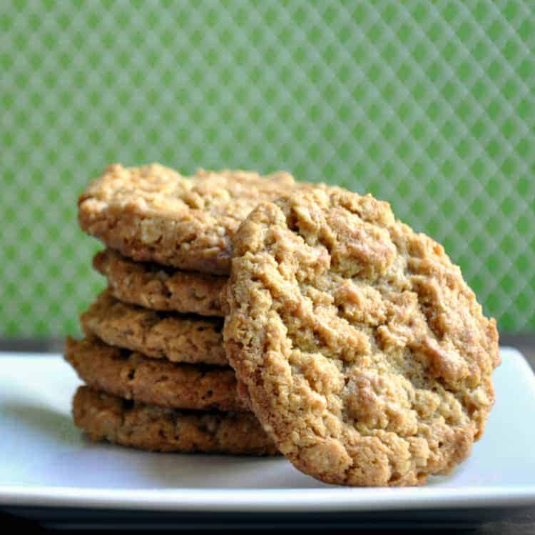 Peanut Butter and Walnut Oatmeal Cookies - Pinch and Swirl