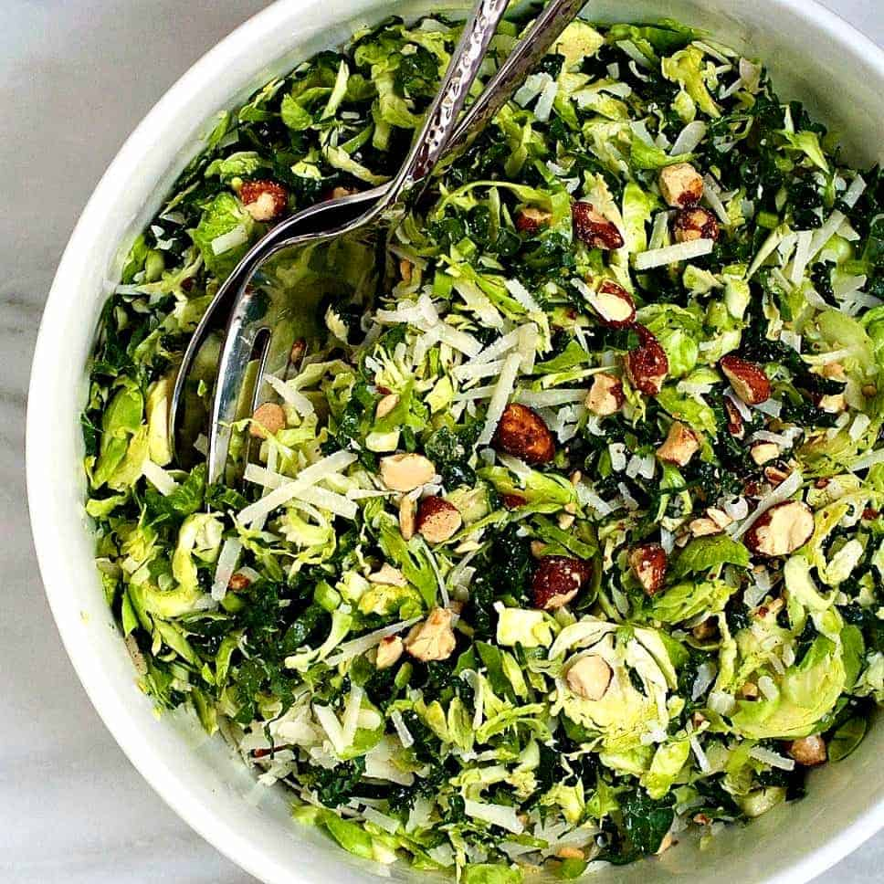 Kale And Brussels Sprout Salad Pinch And Swirl