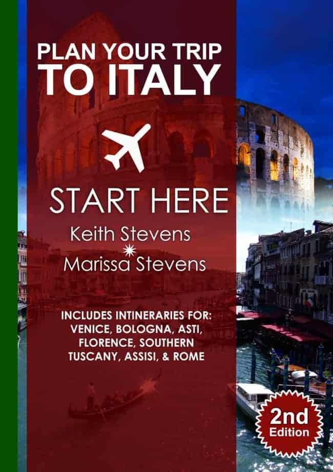 Book cover of Italy travel guide