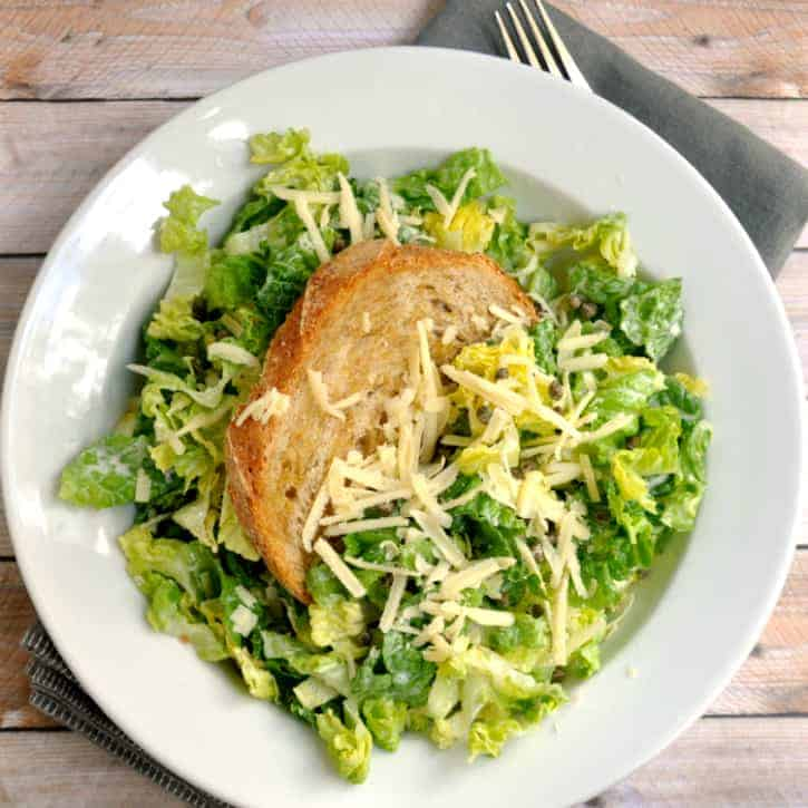 Chopped Caesar Salad with Crispy Capers and Giant Crouton ...