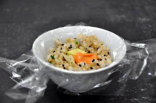 Rice ball ready