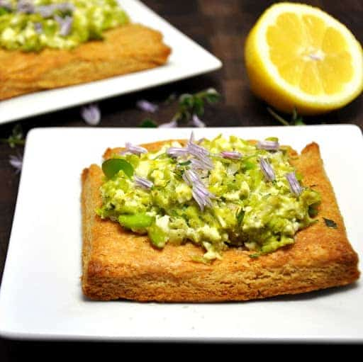 Fava Feta and Mint Tart with Lemon