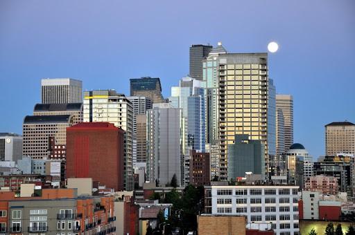Nighttime Seattle Skyline