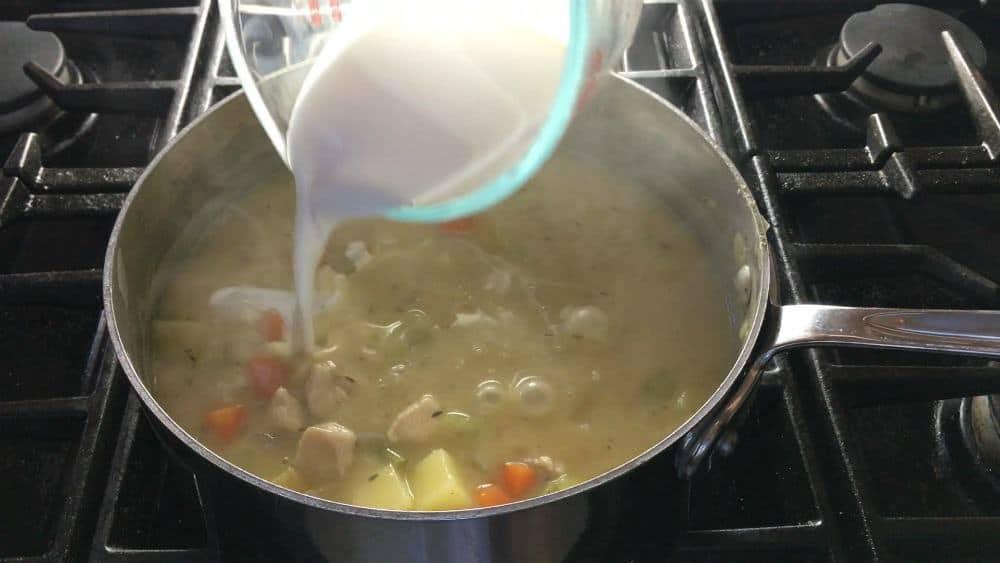 adding cream or half and half