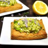 Fava and Feta Tart