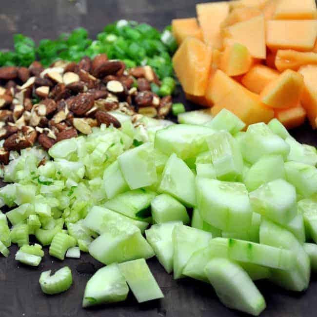 Melon-Almonds-Celery-Cuc