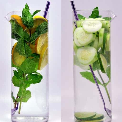 Water Lemon Mint and Mint Cucumber Lime