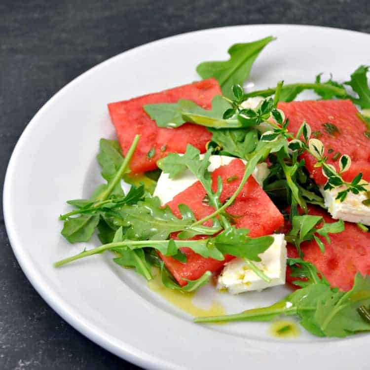 Watermelon and Feta Salad with Thyme