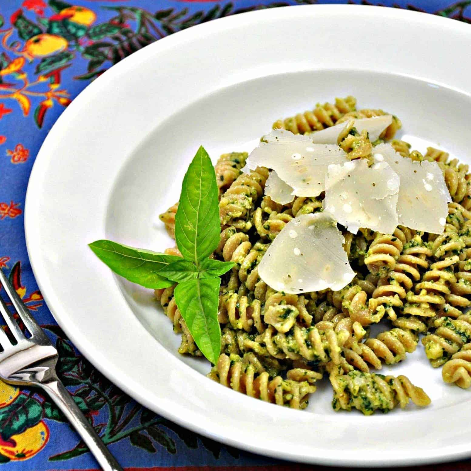 Fusilli with Deconstructed Pesto
