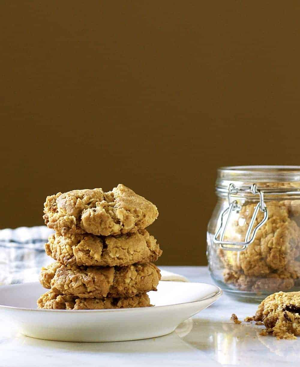 oatmeal-coconut-chocolate-chip-cookies-stacked
