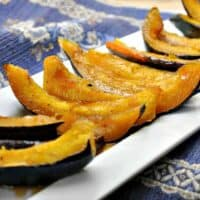 Sweet and Spicy Roasted Acorn Squash Wedges