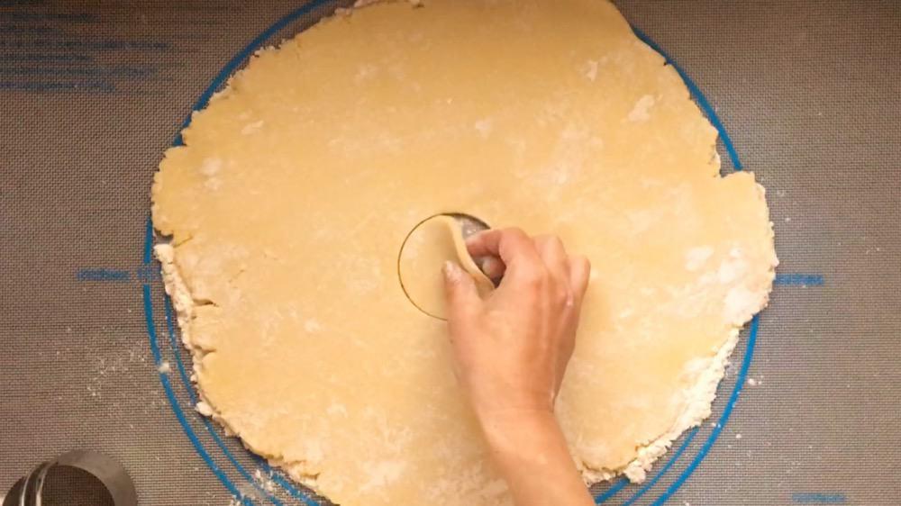 cutting out soft sugar cookie dough