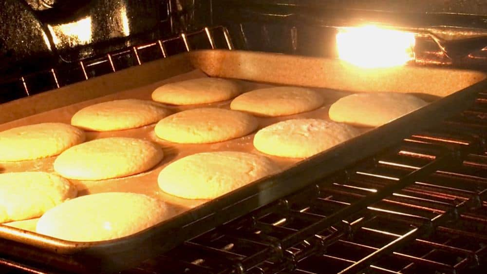 soft sugar cookies baking