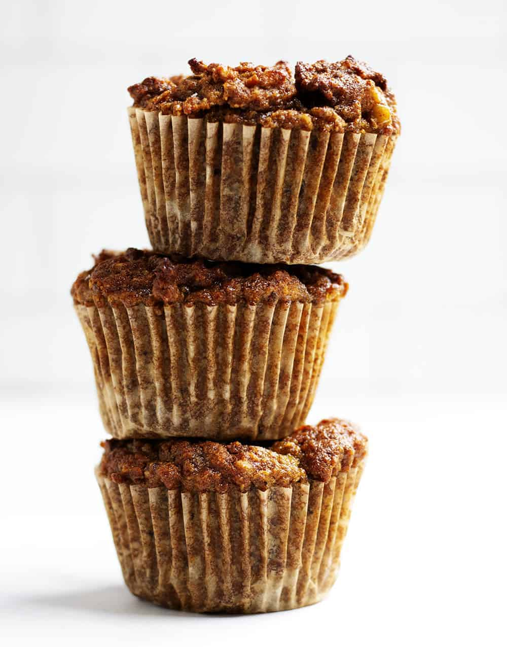 Almond Flour Muffins Stacked