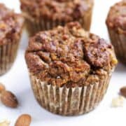 Almond Flour Muffins on marble square image