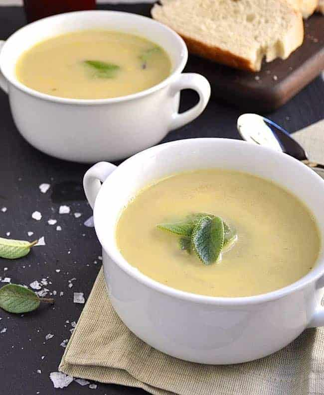 White Bean Garlic and Sage Soup