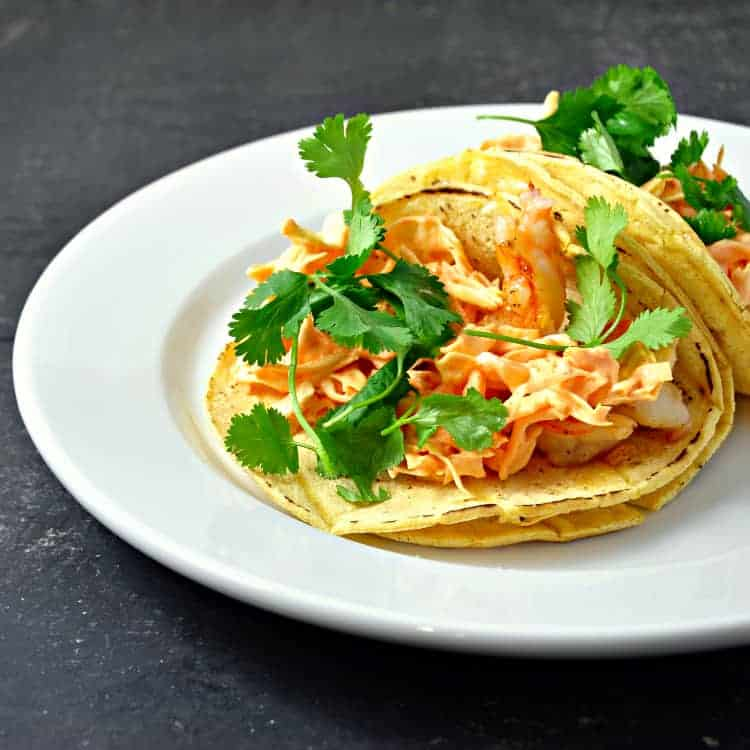 Shrimp Tacos with Spicy Slaw