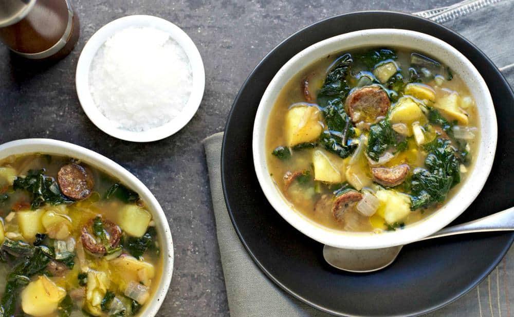 Traditional Portuguese Caldo Verde Soup