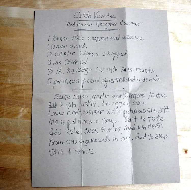 Dads Caldo Verde Recipe