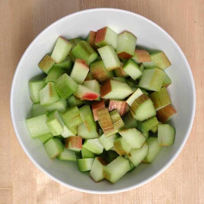 Diced Fresh Rhubarb