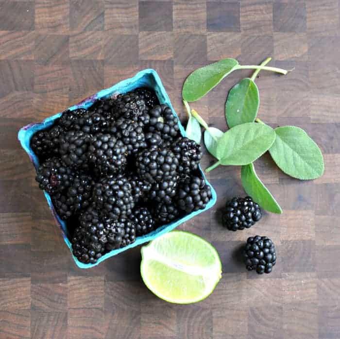 Blackberries Lime and Sage
