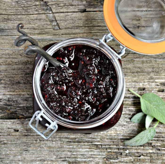 Blackberry Sage Freezer Jam