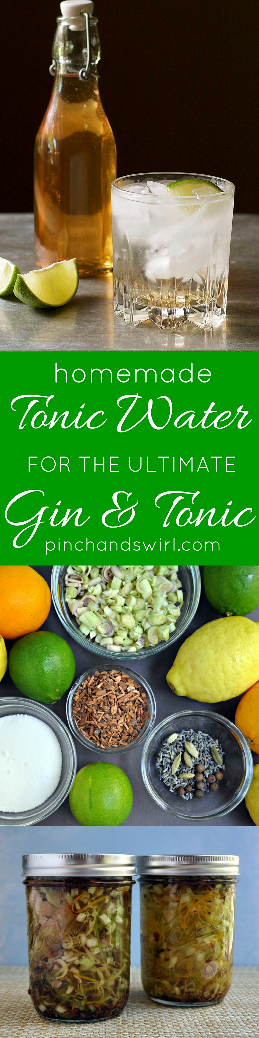 Homemade Tonic Water for the Ultimate Gin and Tonic! #cocktails #easyrecipes #ginandtonic