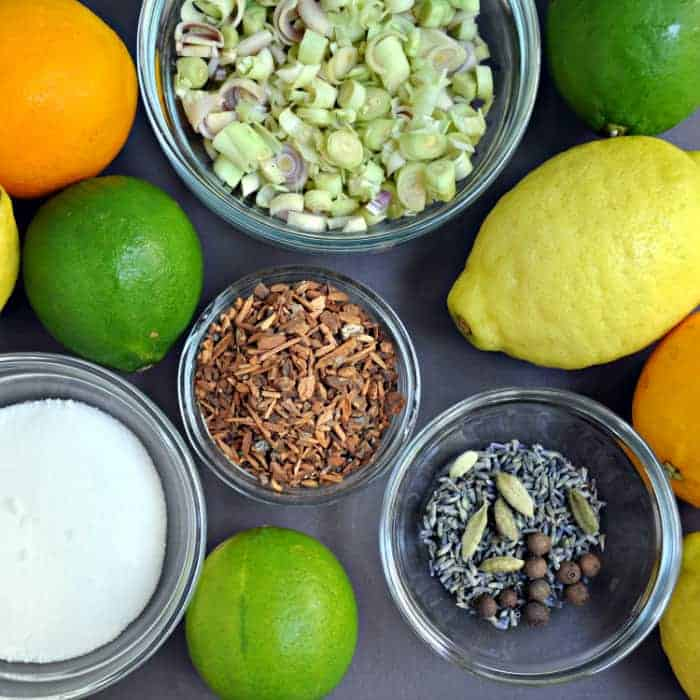 Homemade Tonic Ingredients