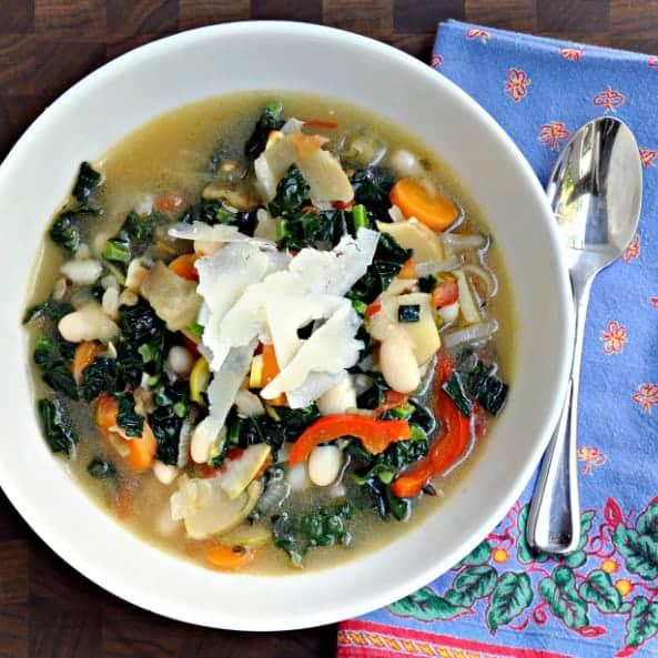 Summer Vegetable Minestrone SoupPinch and Swirl