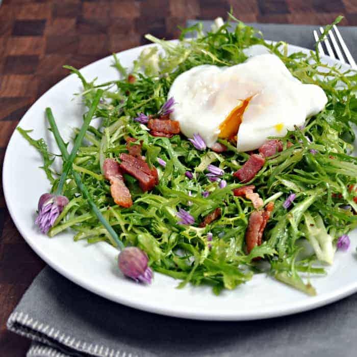 Poached Egg And Bacon Salad - Salad Lyonnaise Recipes — Dishmaps