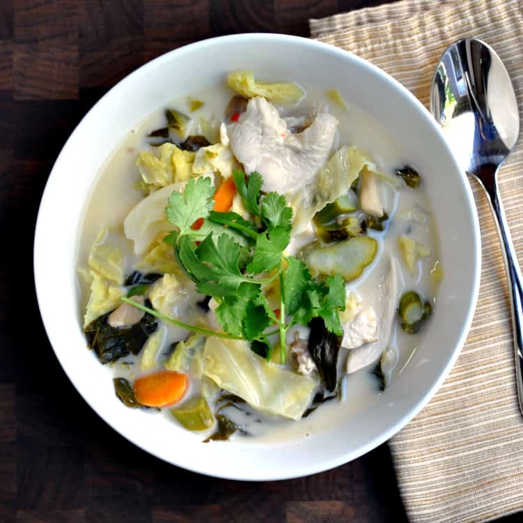 Tom Kha Gai Recipe Thai Chicken and Coconut Soup