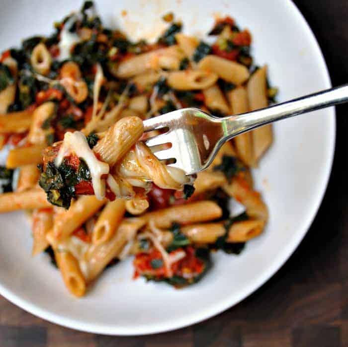 Spaghetti With Kale And Tomato Sauce Recipe — Dishmaps