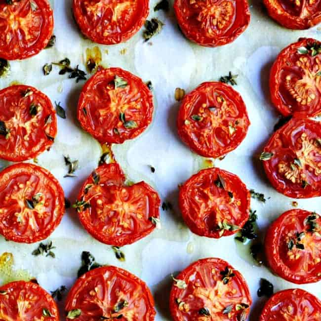 Slow Roasted Tomatoes cooling