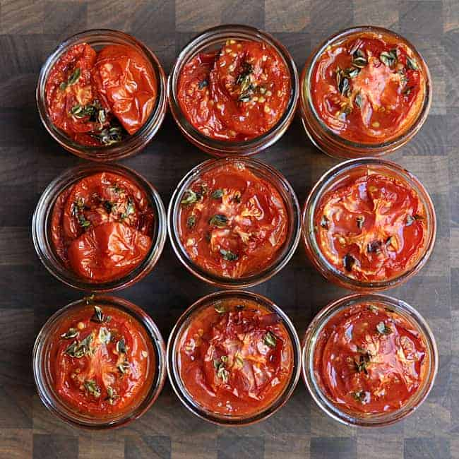 Slow Roasted Tomatoes in Jars