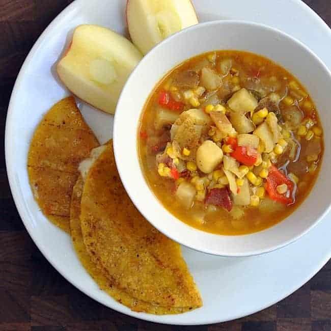 Sweet Potato and Corn Chowder - Pinch and Swirl
