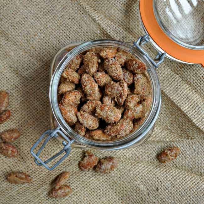 Autumn Spiced Candied Almonds - Pinch and Swirl