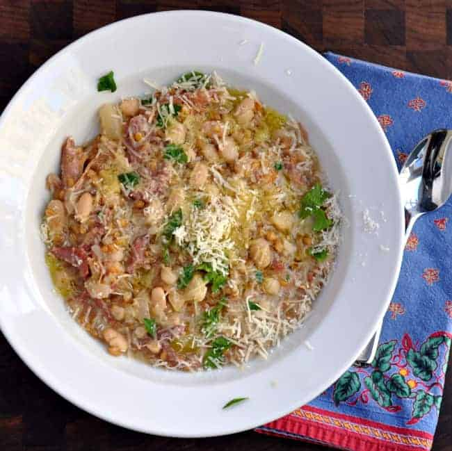 Slow Cooker Farro and Cannellini Bean Soup with Vegetables and ...