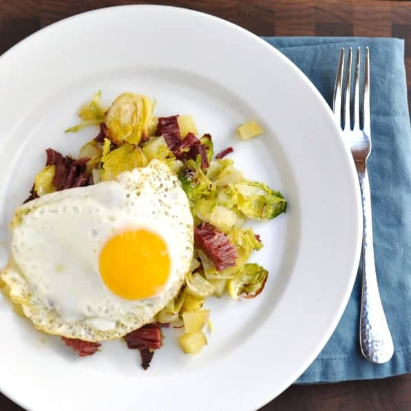 Corned Beef Potato And Brussels Sprout Hash