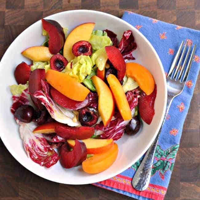 Stone-Fruit-Radicchio-Butter-Lettuce-Salad