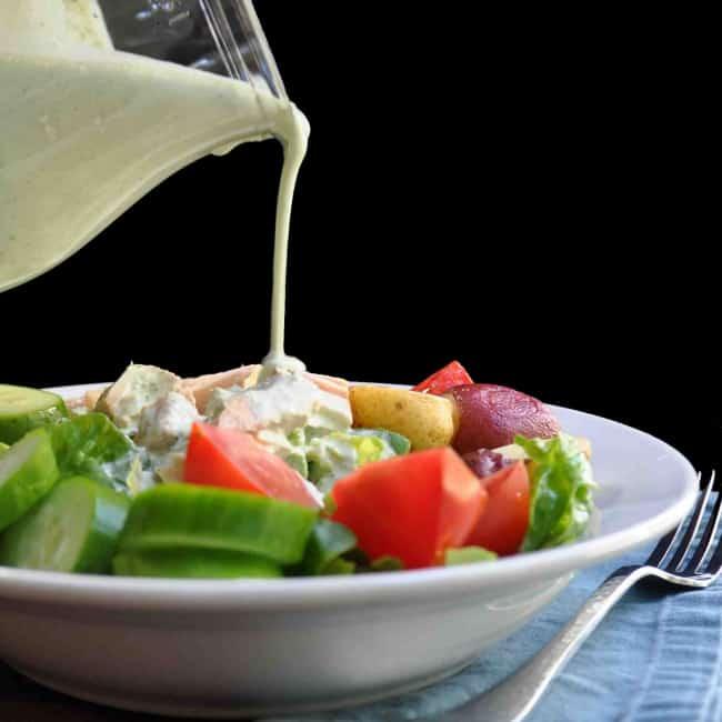 4-Ingredient-Basil-Gorgonzola-Dressing