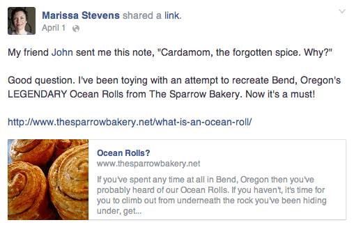 Facebook Ocean Rolls Post
