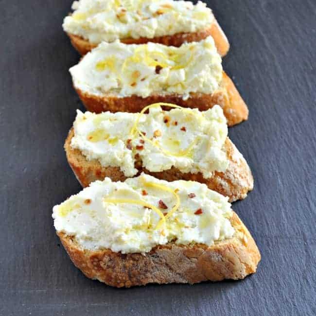 Feta-Lemon-Crostini