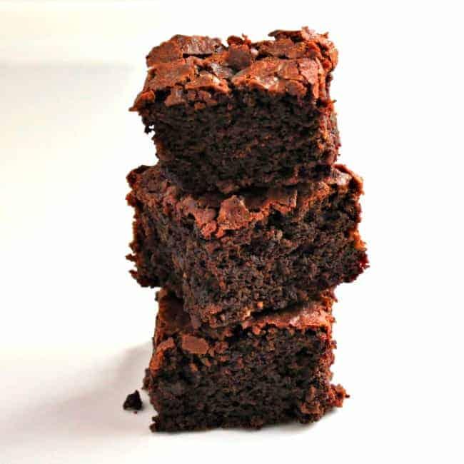 Fudgy Dark Chocolate Beet Brownies - Pinch and Swirl