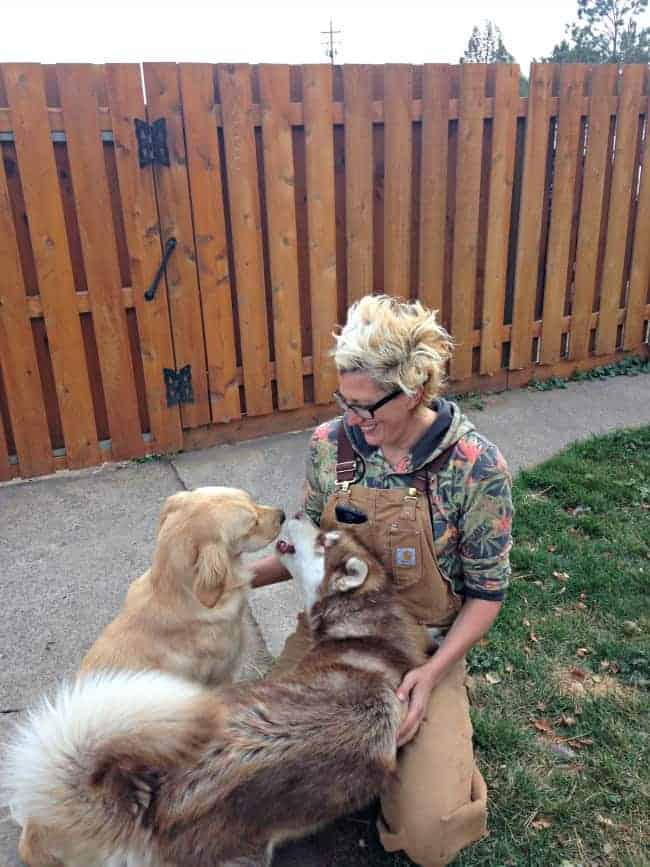 Krista-with-the-doggies