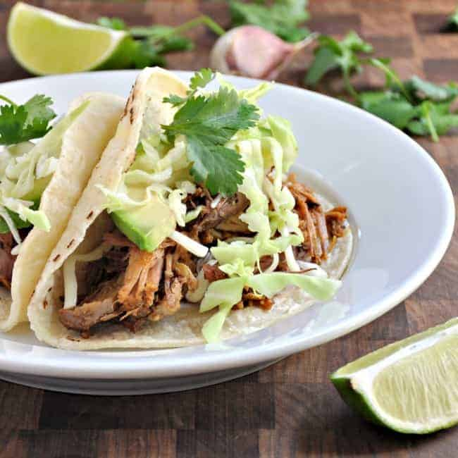 Pork Carnitas Tacos - Pinch and Swirl