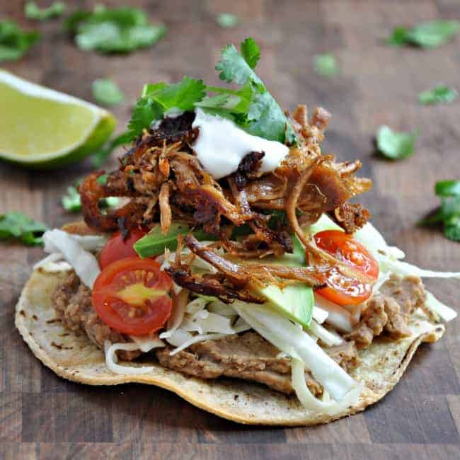 Pork-Carnitas-Tostadas